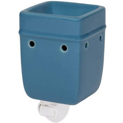 Solid Light Blue Plug in Warmer - Briddick Tile + Stone