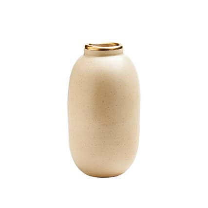 Oblong Bud Vase in Matte Nude