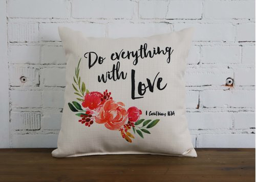 Everything with Love Pillow - Briddick Tile + Stone