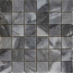 Turkish Gray Marble polished 2x2 mosaic - Briddick Tile + Stone