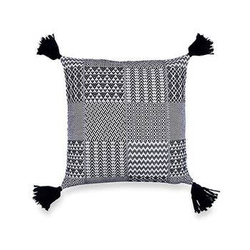 Santorini Accent Cushion, Black - Briddick Tile + Stone