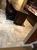LaVellia Brushed and Chiseled Marble in Versailles Pattern - Briddick Tile + Stone