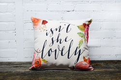 Floral pillow home decor - Briddick Tile + Stone