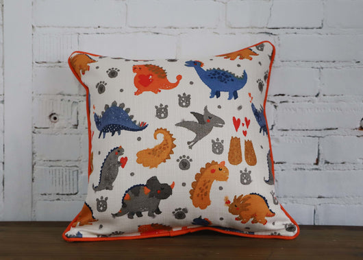 Dinosaur Pillow - with piping - Briddick Tile + Stone