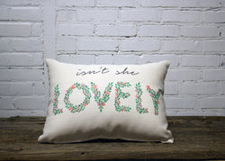 Isn't She Lovely Floral Pillow - Briddick Tile + Stone