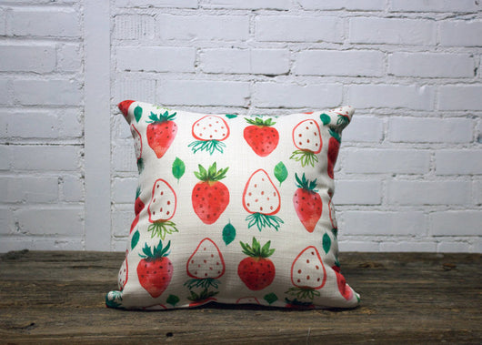 Strawberry slice Pillow - Briddick Tile + Stone