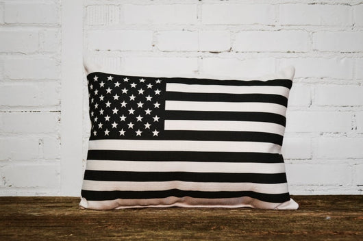 American flag Pillow - Briddick Tile + Stone