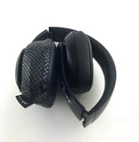 Black Cobra (Snake Skin Like) Headphone Covers