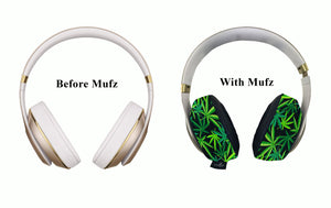 420 Flower Headphone Covers