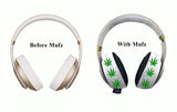 420 Green Leaf Headphone Covers