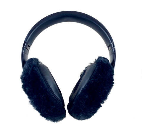 Black Mink Headphone Covers