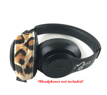 Load image into Gallery viewer, Leopard (Sued) Headphone Covers
