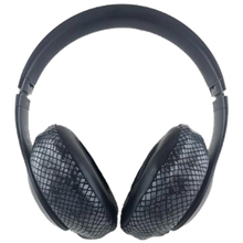 Load image into Gallery viewer, Black Cobra (Snake Skin Like) Headphone Covers