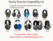 Load image into Gallery viewer, The Thin Blue Line (Hearing Protection)