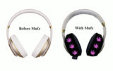 420 Pink Marijuana Headphone Covers