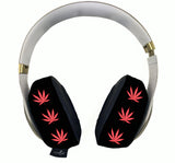 420 Pink Black Headphone Covers