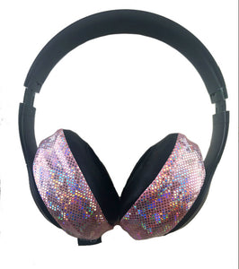 Pink Glitter Headphone Covers