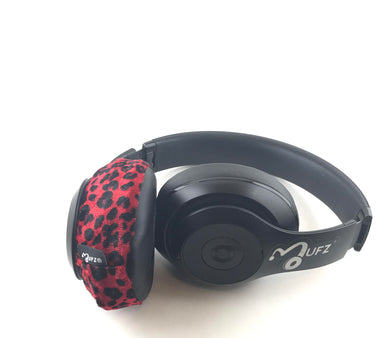 Headphone Covers (Red Cheetah)