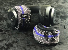 Load image into Gallery viewer, Thin Blue Line Headphone Covers