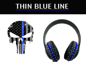 Headphone Covers (Thin Blue Line)