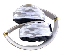 Load image into Gallery viewer, White Camo Headphone Covers