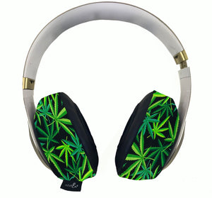 420 Multi-Green Headphone Covers