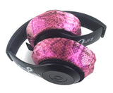 Pink Snake (Snake Skin like) Headphone Covers