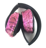 Headphone Covers (Pink Snake)