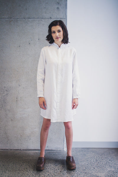 Haiku Mandarin Collar Shirt Dress Sewing Pattern