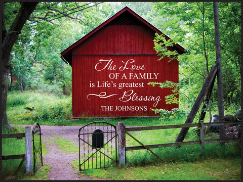 Barn Gate Lithograph-Family Blessings