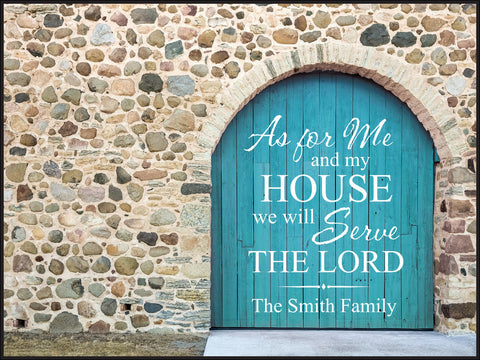 Door Lithograph-We Will Serve The Lord