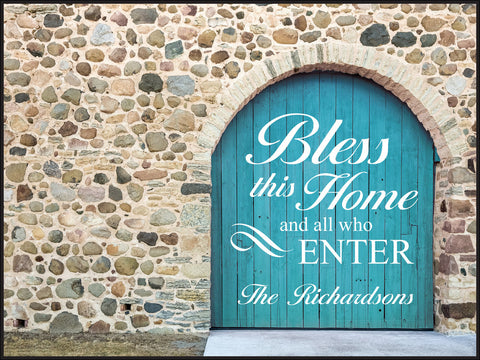 Door Lithograph-Bless this Home