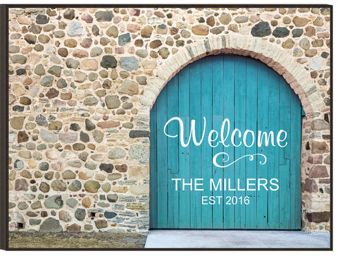 Door Lithograph-Welcome