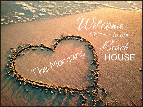 Heart Lithograph-Welcome to Our Beach House