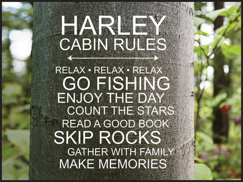 Tree Lithograph-Cabin Rules