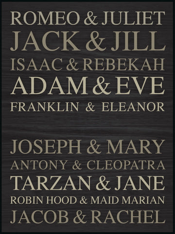 Famous Names Plaque (large)