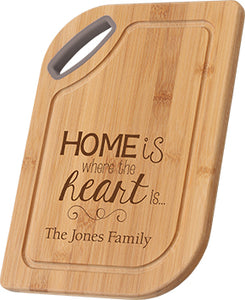 Bamboo Cutting Board-Home is Where The Heart is