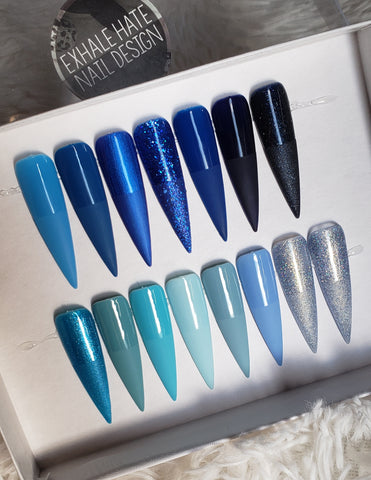 Basics: Blue Glue on Fake Nails