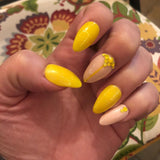 Sunshine & Swarovski Glue on Fake Nails