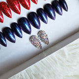 Full Swarovski Crystal ACCENT Glue on Fake Nails - Add On