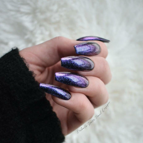 Alien Glitter | Glue on Fake Nails