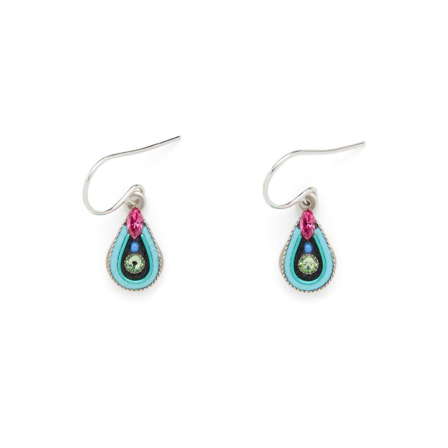 Petite Drop Earrings, Light Turquoise