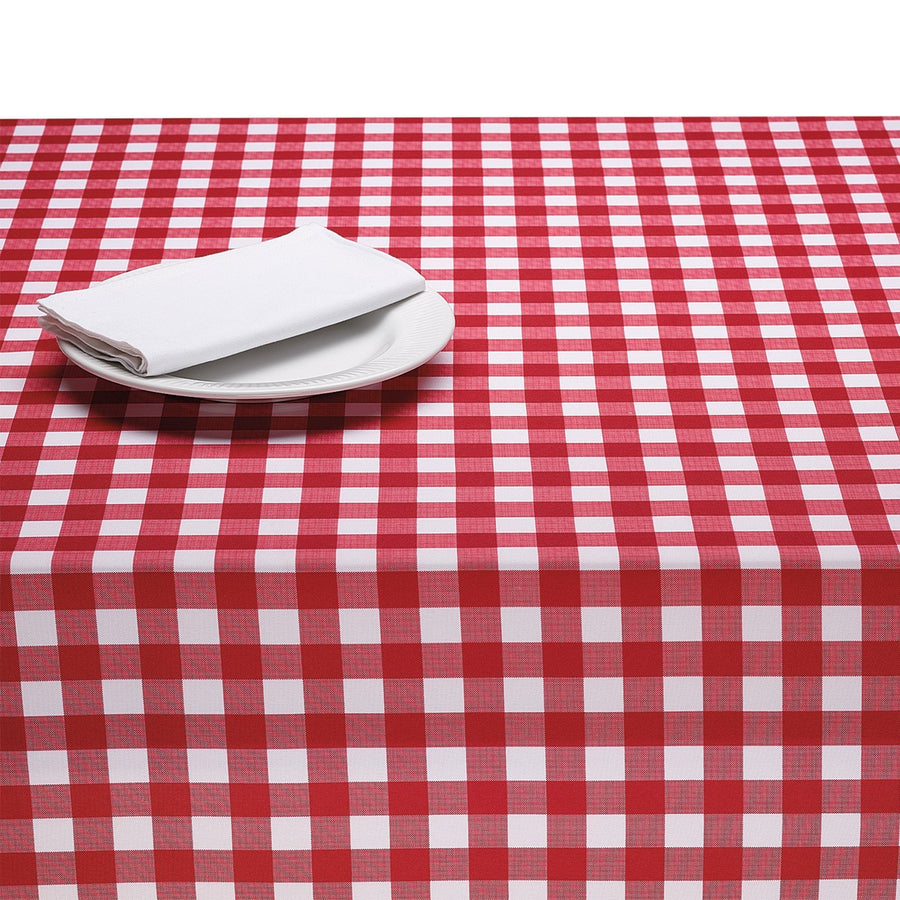 Red Gingham 60 Inch Round Tablecloth
