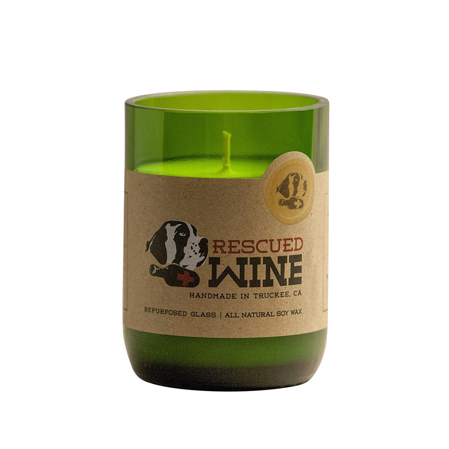 Riesling Wine Bottle Candle