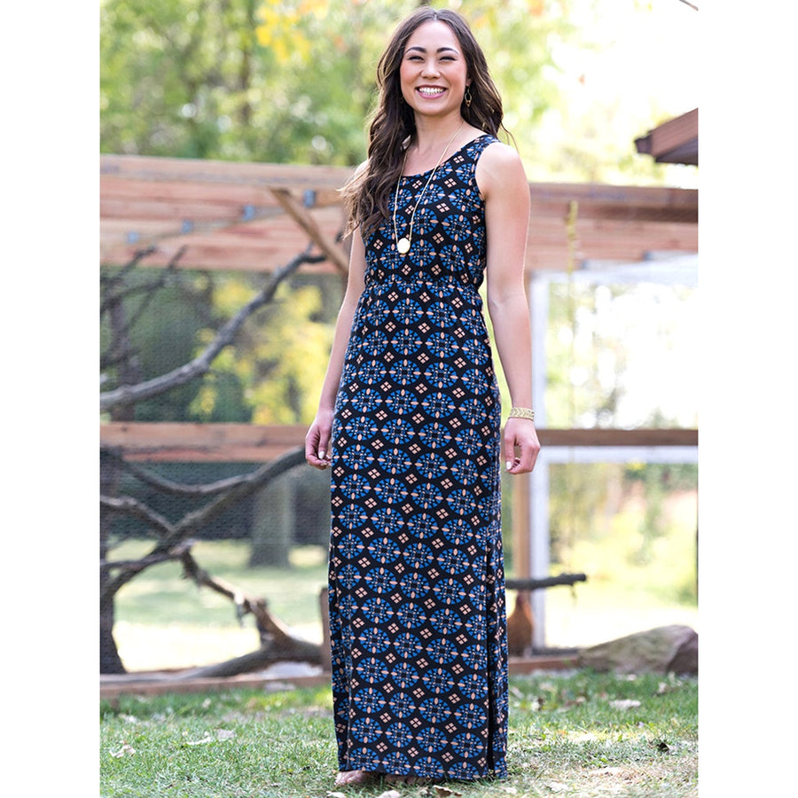 Black Mosaic Anais maxi dress