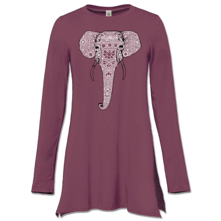 Painted Elephant Long Tunic Top
