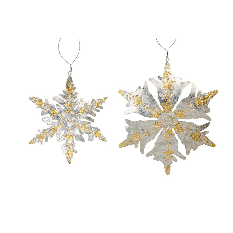 Baroque Snowflake Ornaments