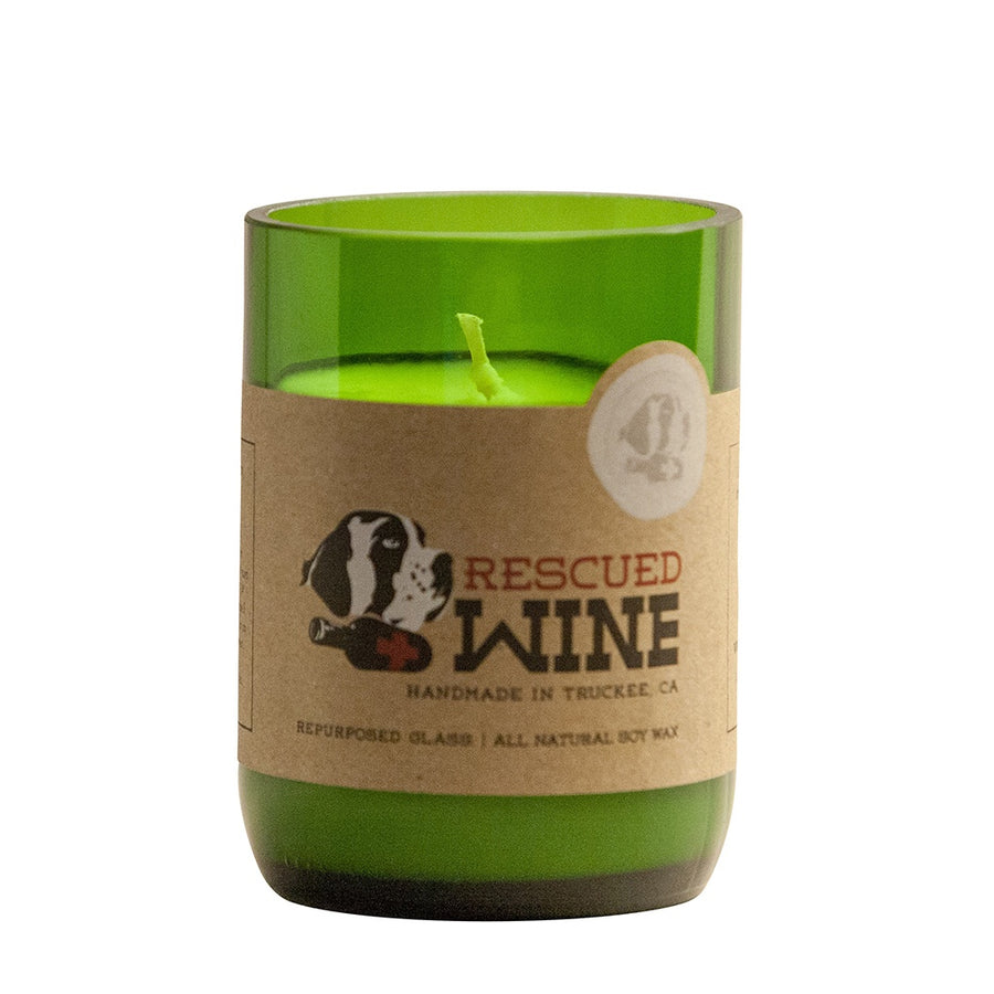 Chardonnay Wine Bottle Candle