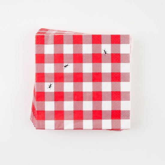 Red Gingham Napkin