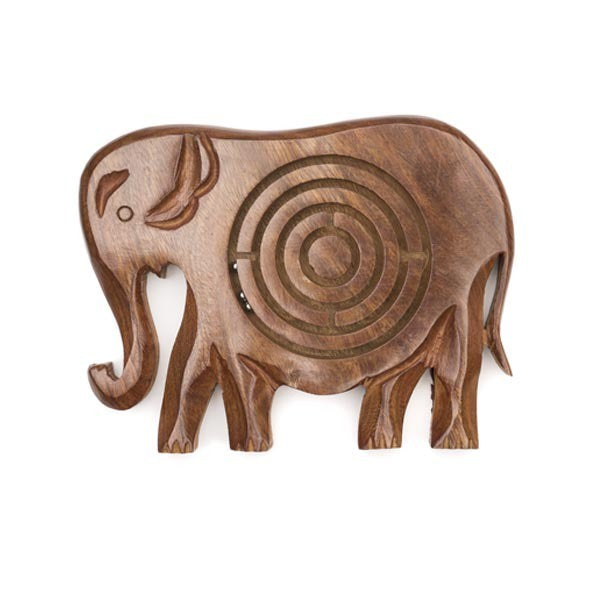 Elephant Wooden Labyrinth